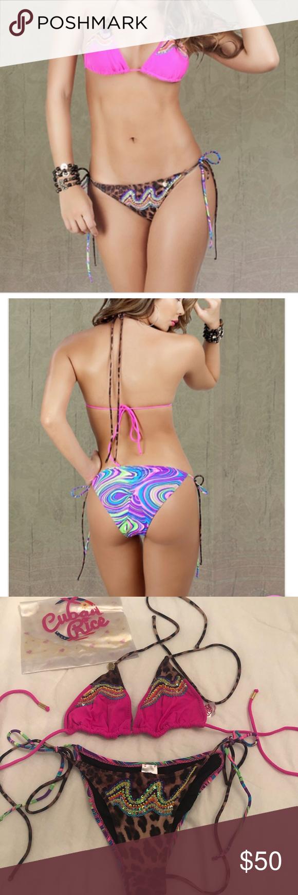 Cuban Rice Bikini - XS NWOT Cuban Rice Bikini - XS-NWOT Beautiful bikini and fabric and fit Never worn Cuban Rice Swim Bikinis #cubanrice Cuban Rice Bikini - XS NWOT Cuban Rice Bikini - XS-NWOT Beautiful bikini and fabric and fit Never worn Cuban Rice Swim Bikinis #cubanrice