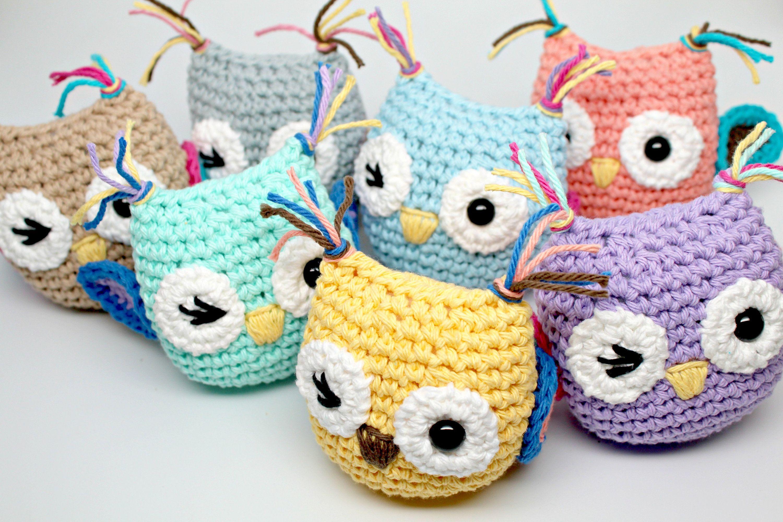Amigurumi Owl- Winking Owl- Crochet Toy- Owl Pocket Pal- Plush Owl ...
