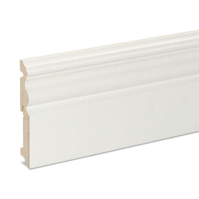Listwa Przypodlogowa Mdf Goodhome 19 X 120 X 2200 Mm Biala Listwy Przypodlogowe Mdf Skirting Skirting Boards Skirting