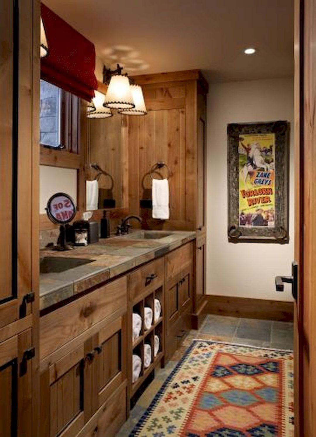 Rustic Farmhouse Master Bathroom Remodel Ideas 10