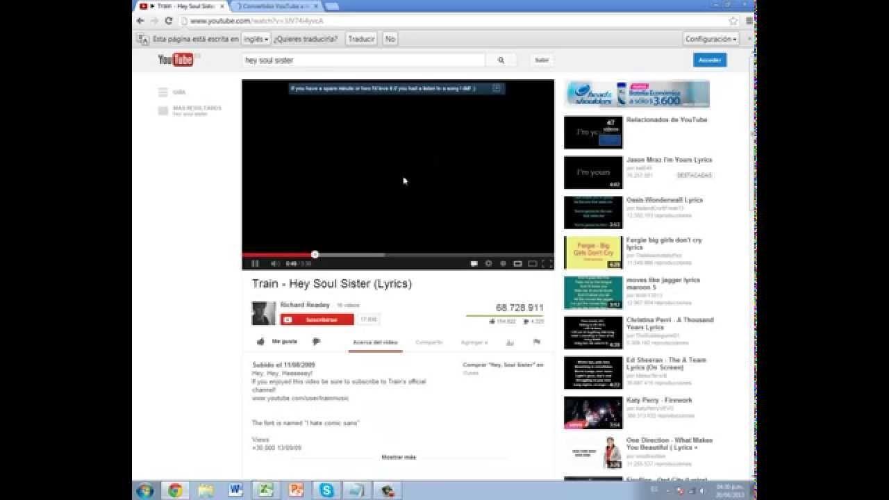 Como Descargar Musica De You Tube Y Pasarla A Una Memoria Youtube Soul Sisters Lyrics