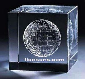 3d Laser Etched Crystal Cube 09 Recreation Pinterest