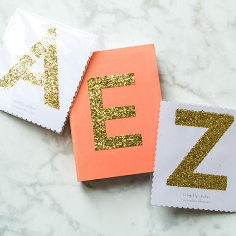 Large Gold Alphabet Sticker Gold Sparkly Letters Alphabet Stickers Gold