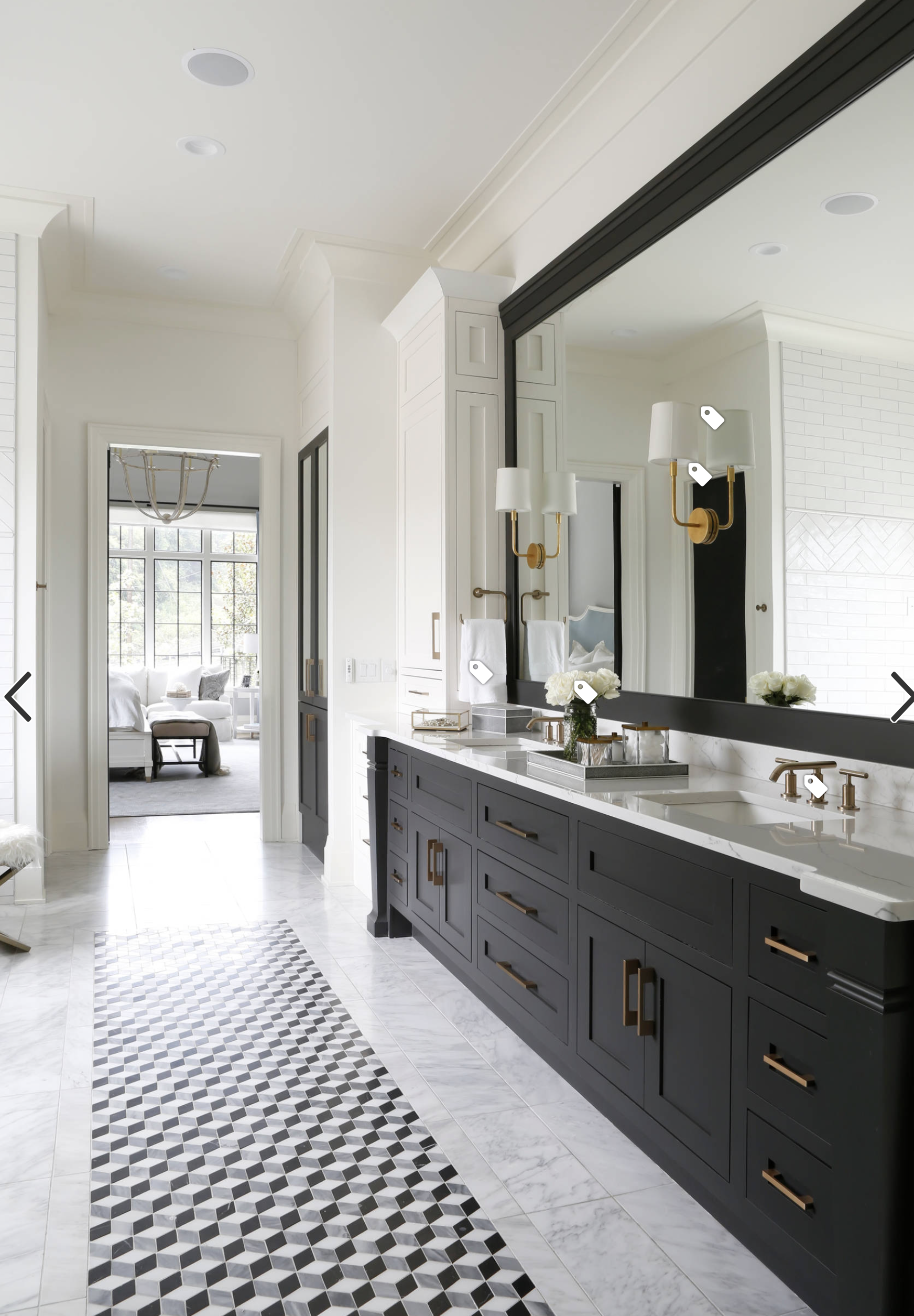 Pencil Bathroom White Master Bathroom Black Vanity Bathroom Bathrooms Remodel