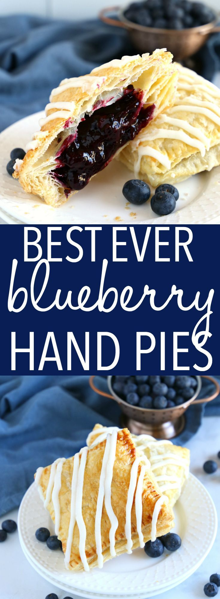 Best Ever Blueberry Hand Pies {Easy Dessert or Brunch Recipe!} - The Busy Baker