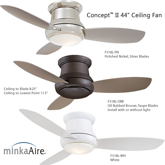 Minka Aire Concept Ii 44 Ceiling Fan Small Ceiling Fans Deep Discount Lighting Small Ceiling Fans Deep Disc In 2020 Ceiling Fan Modern Fan Arts Crafts Style