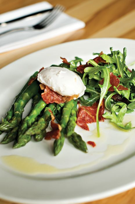 Make It: Asparagus, Crispy Prosciutto and Poached Egg Salad - Sacramento Magazine - April 2011 - Sacramento, California