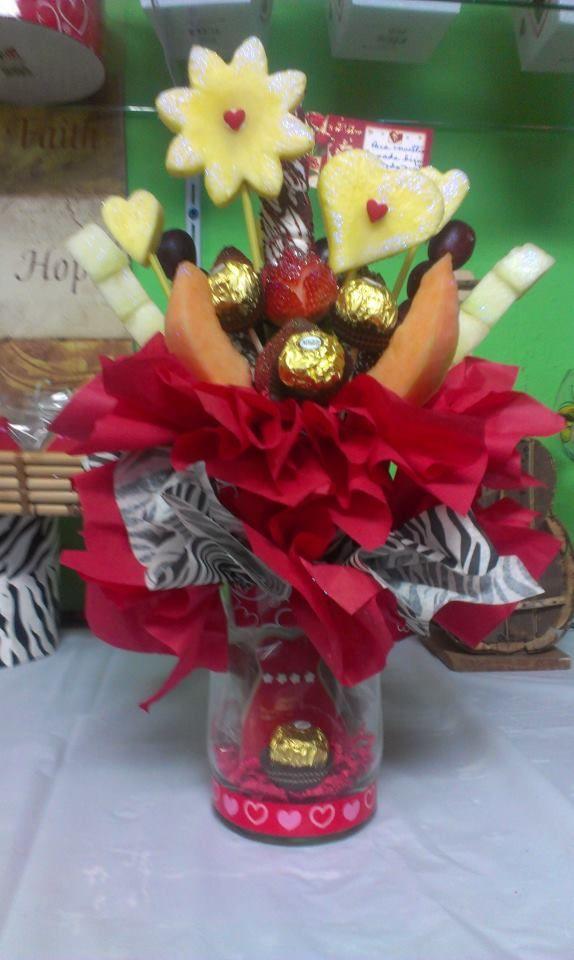 fresas y frutas decoradas para ella