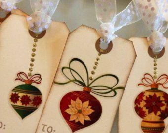 Set di 8 ornamento di Natale / vacanze carte di JennyPie5 su Etsy