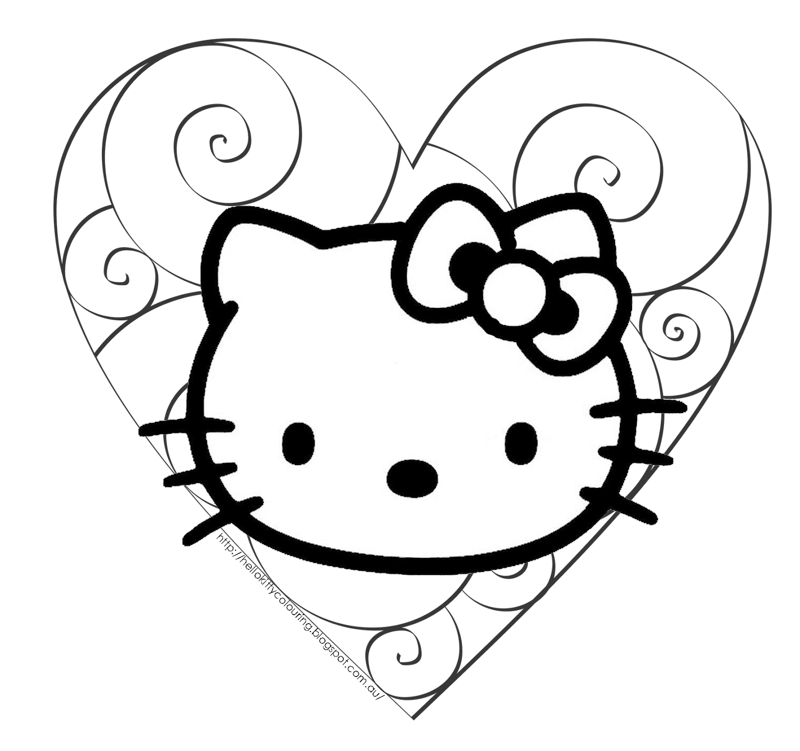 I think my favorite coloring page here is the one of Hello Kitty as an