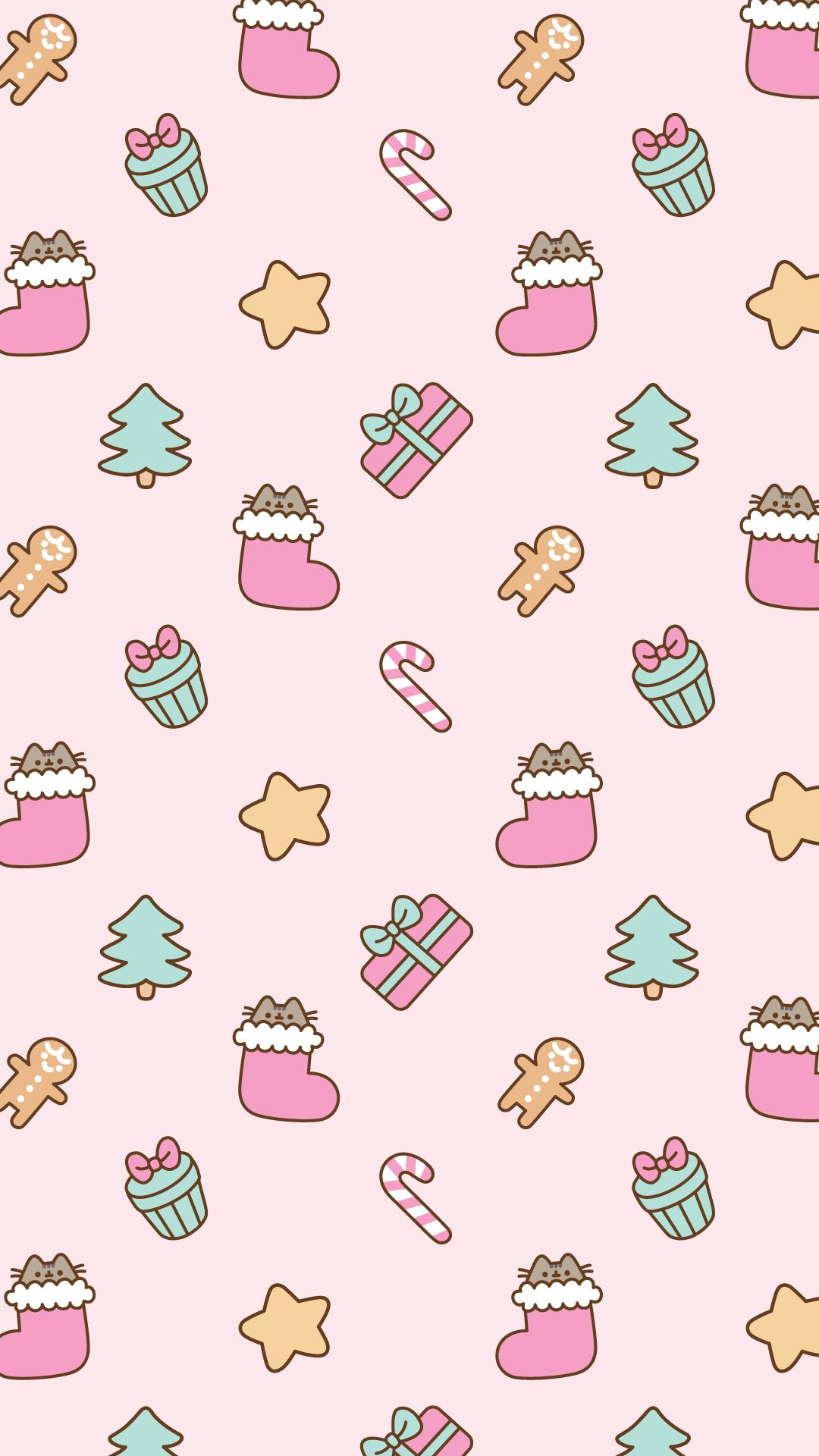 Pusheen Christmas background | Pusheen | Pinterest | Pusheen ...