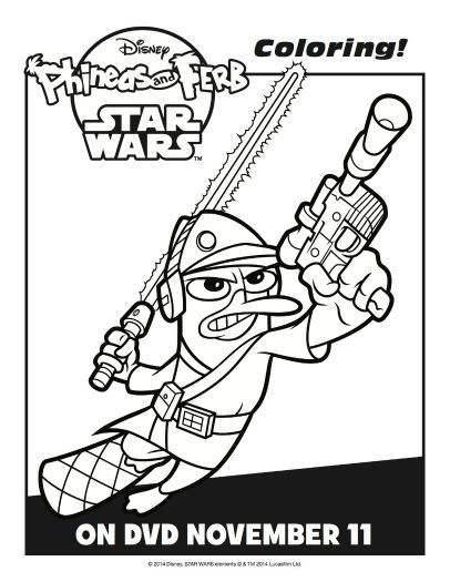 Phineas And Ferb Star Wars Coloring Sheet Mama Likes This Star Wars Coloring Sheet Phineas And Ferb Star Wars Printables