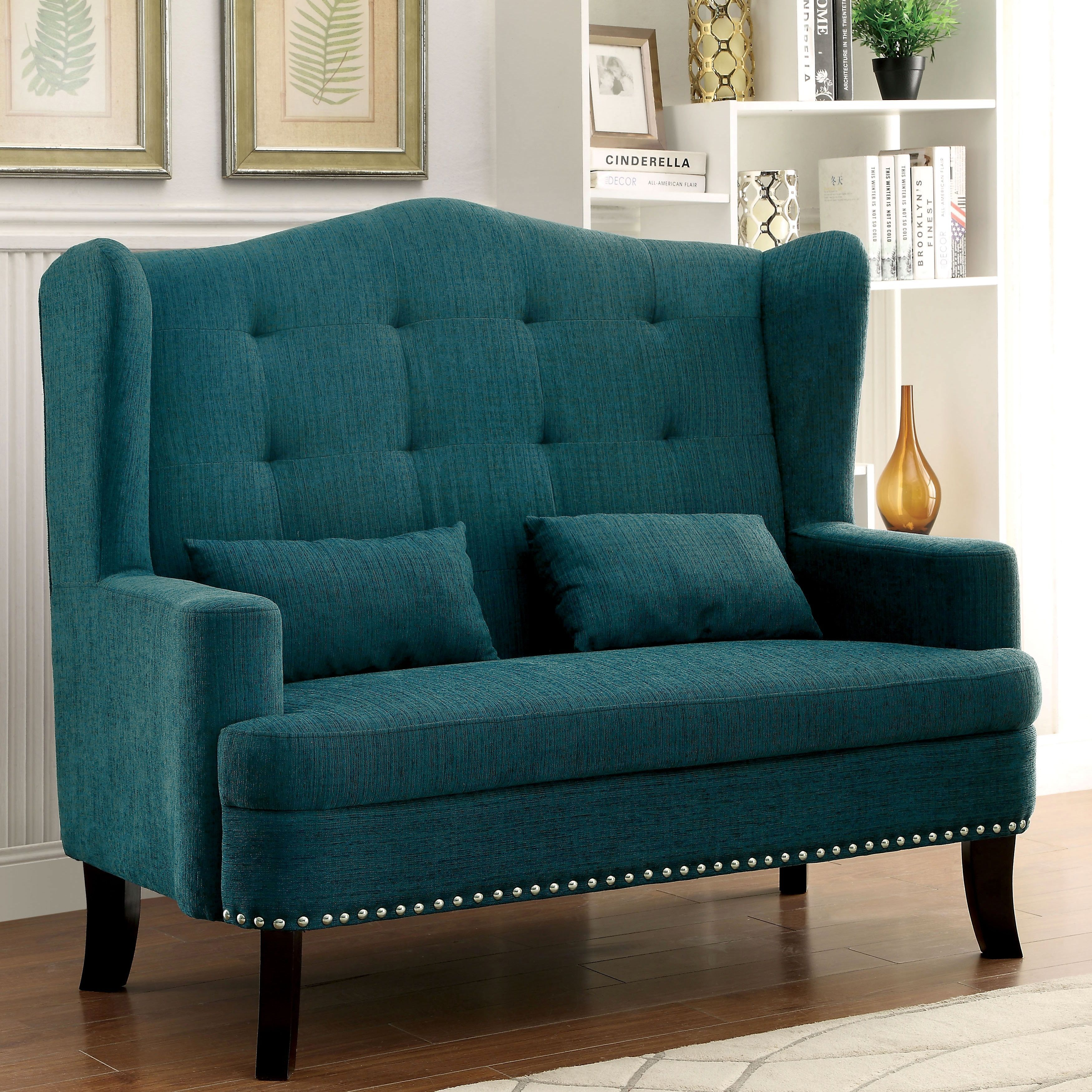 Astounding Furniture Of America Vierre Romantic Wingback Tufted Pabps2019 Chair Design Images Pabps2019Com