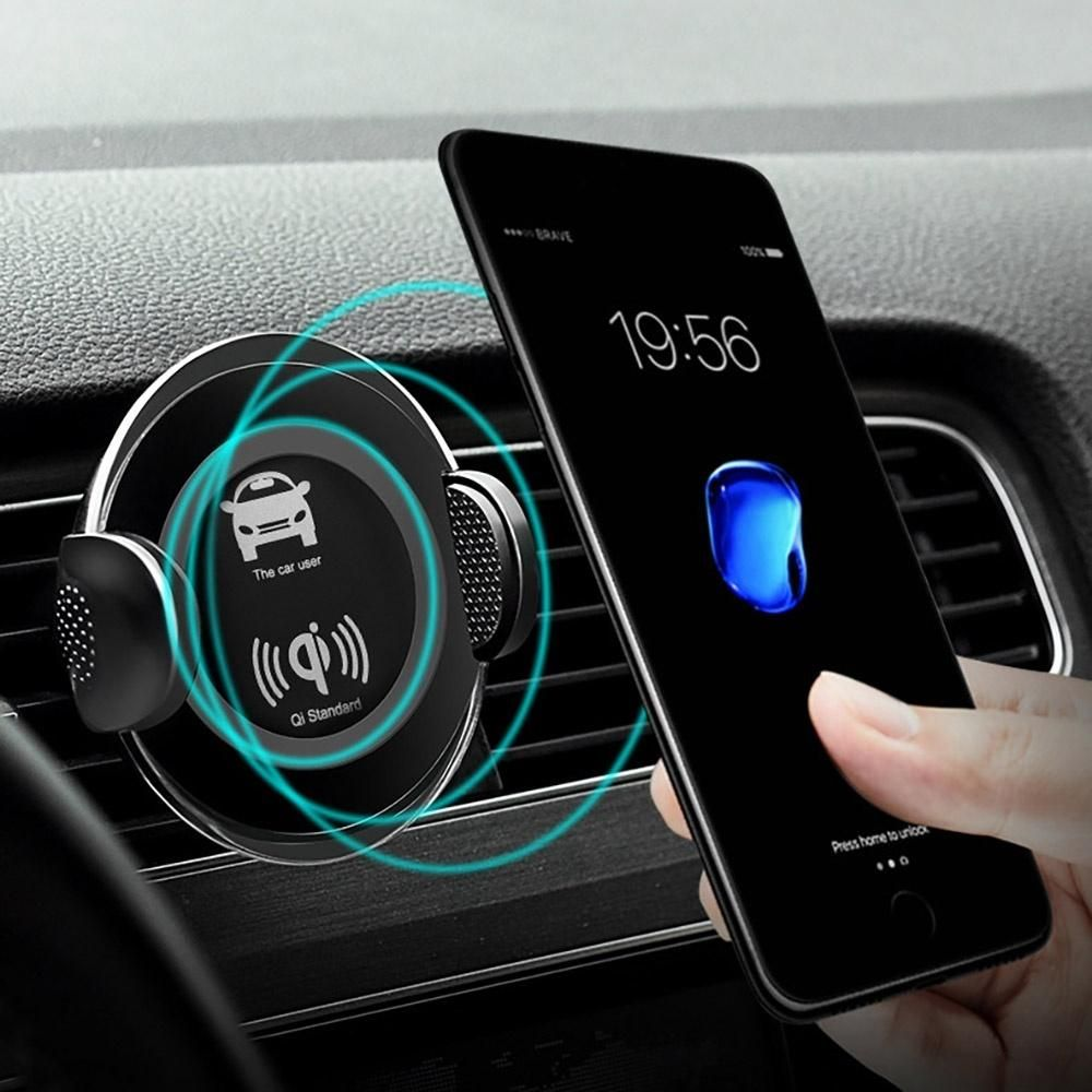Fdgao qi wireless charger mobile phone fast charging car