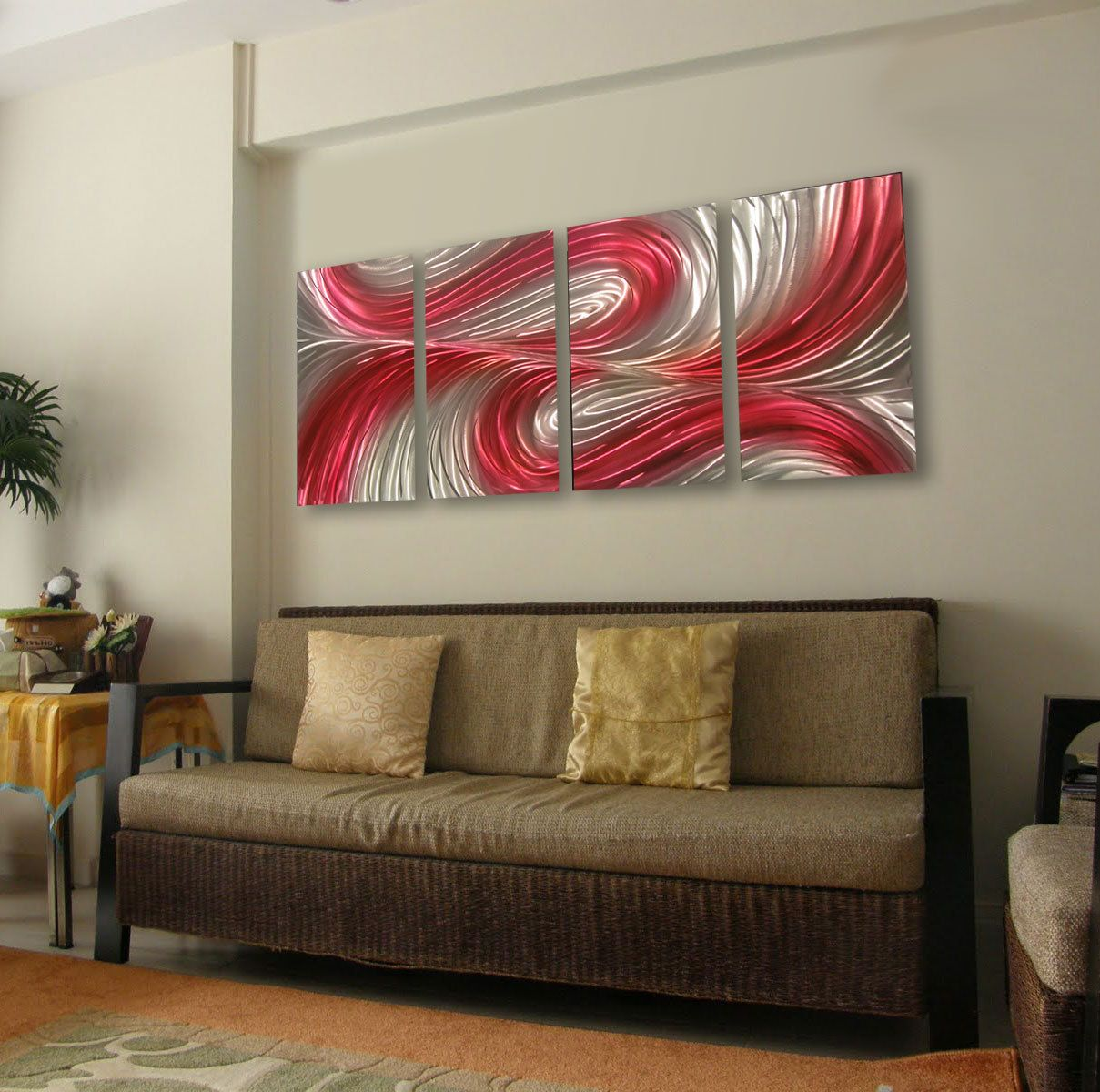 Metal wall art decor abstract contemporary modern sculpture hanging