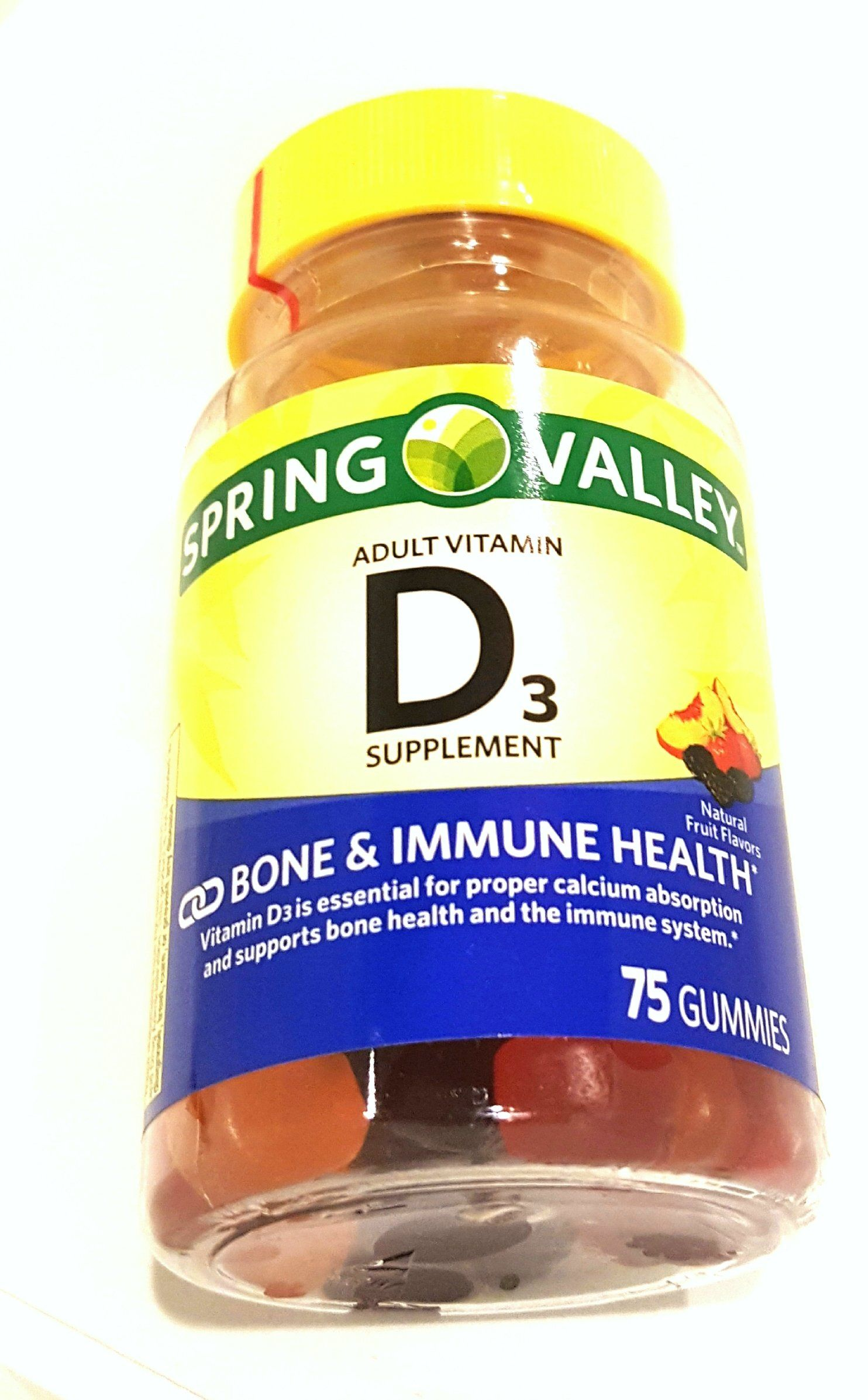 Spring Valley Vitamin D3 1000 IU Peach Blackberry