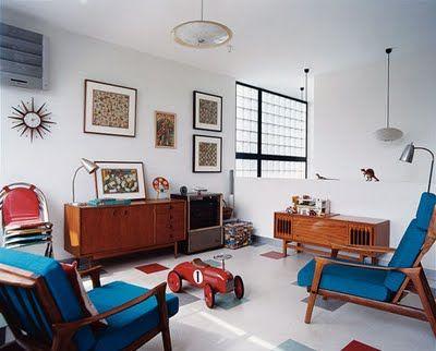 Mid-Century Danish Modern Living Room full of great Teak ...