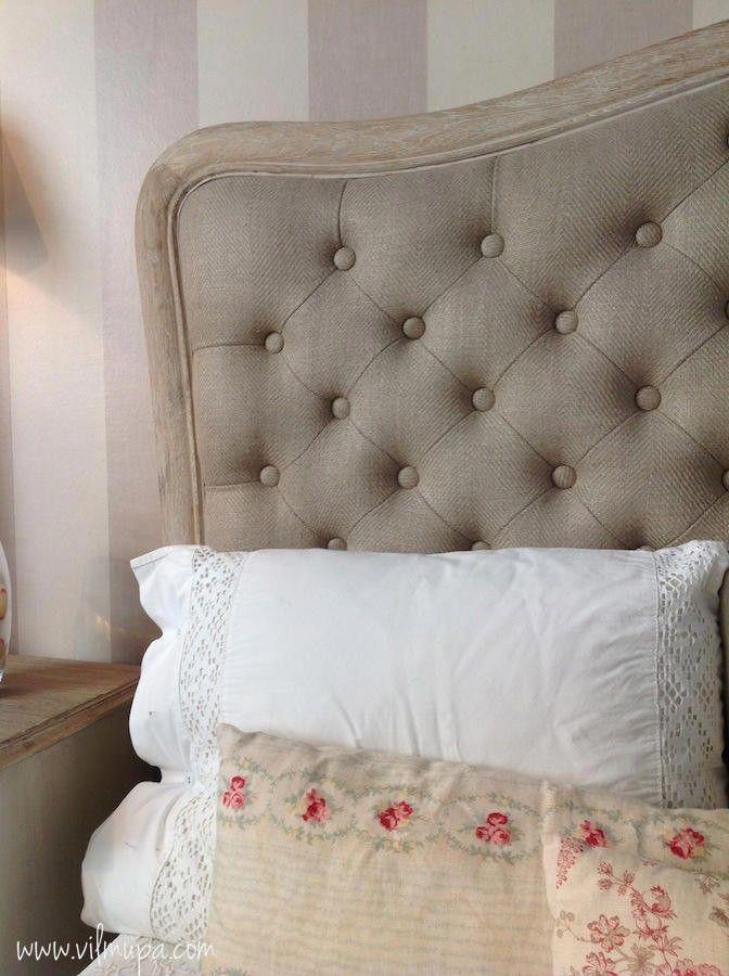 Cabecero cama tapizado tela | Pinterest | Estilo francés, Cabeceros ...
