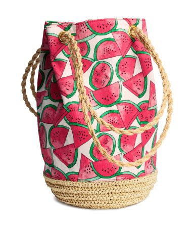 Perfect for the beach or a picnic: H&M Watermelon Tote ...