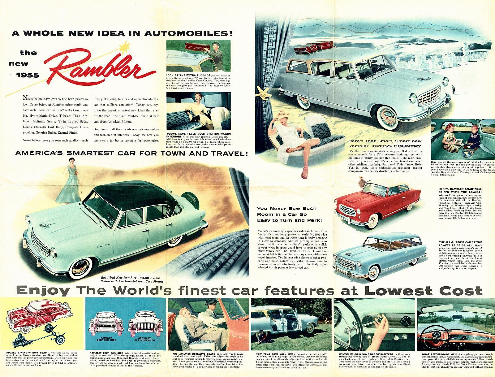 1955 Rambler Foldout-Side B | escarabajos... | Pinterest | Cars