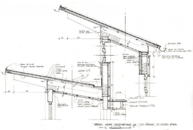Plan et coupe projet DETAILS Pinterest Architecture, Attic and