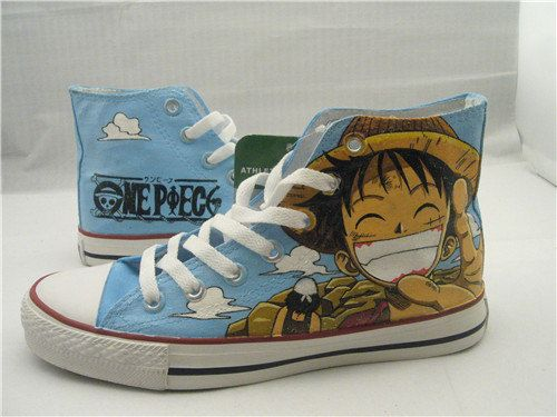 one piece anime Custom Converse one piece anime Luffy shoes