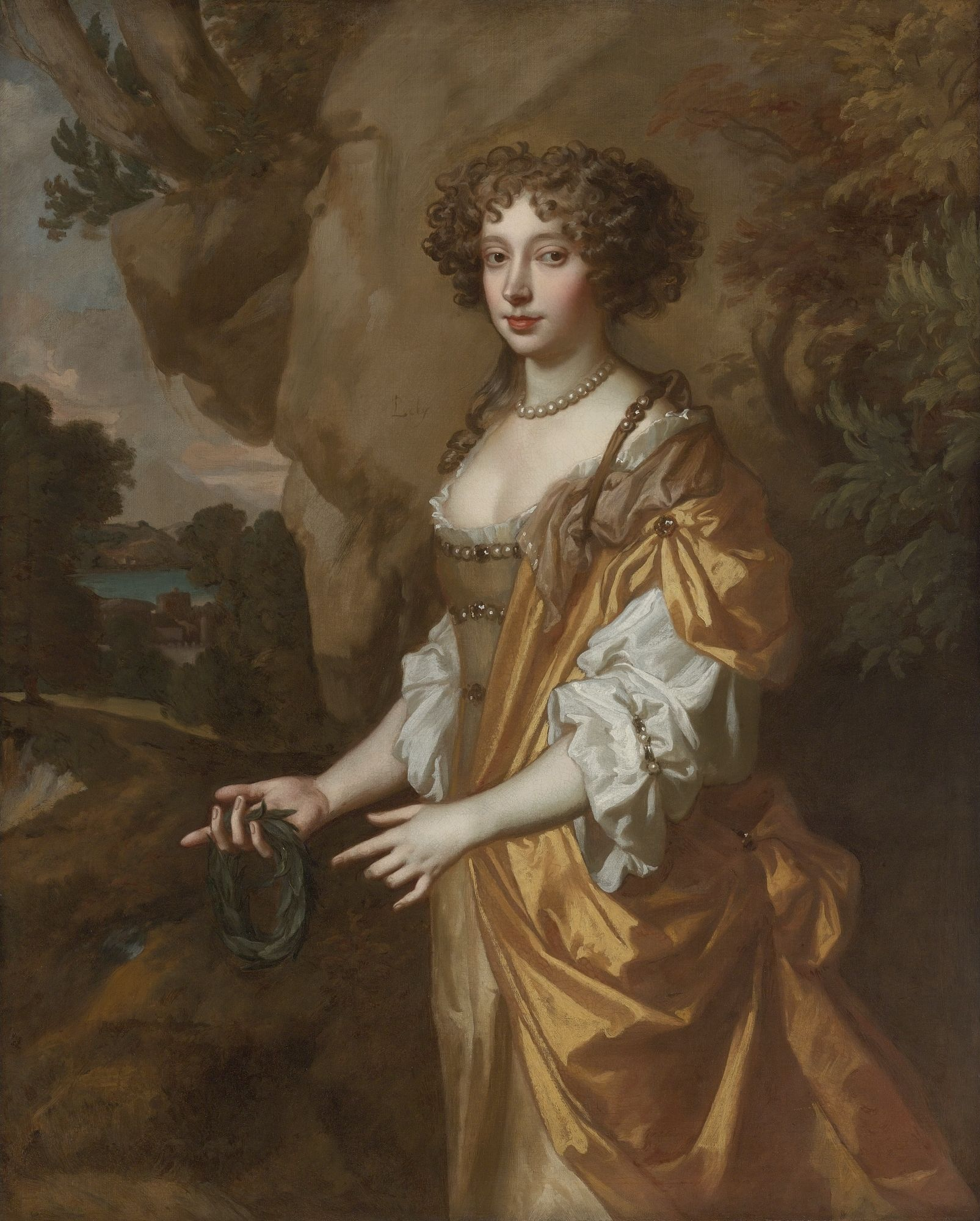 """Portrait of a Lady, said to be Nell Gwyn"" by Sir Peter"
