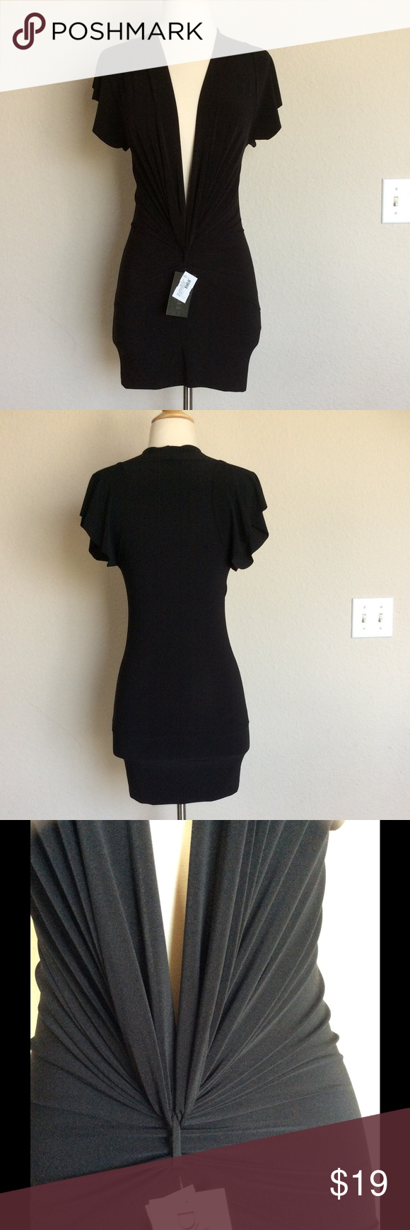 New, FD sexy black party dress - small