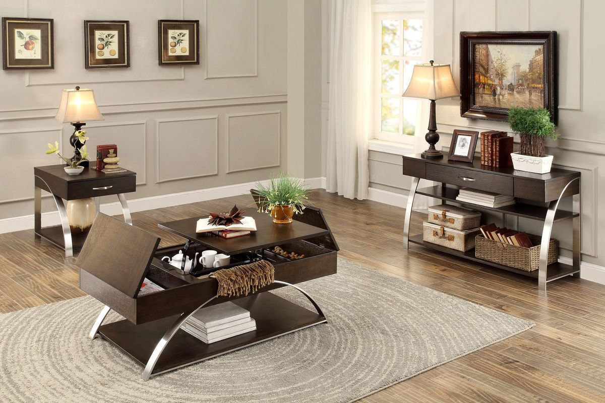 Tioga cocktail table with lift top and storage storage