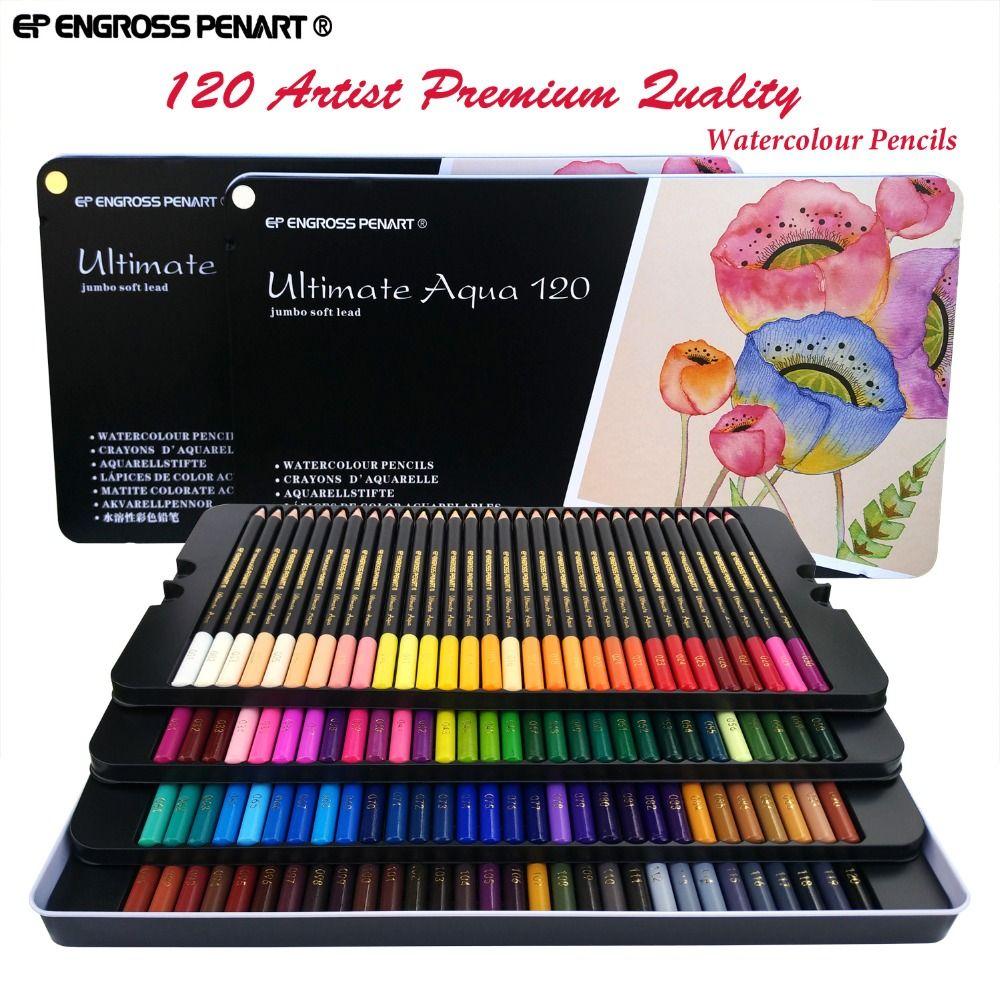 Peroci 120 Crayons De Couleur Aquarela Lapis De Cor Professionnel