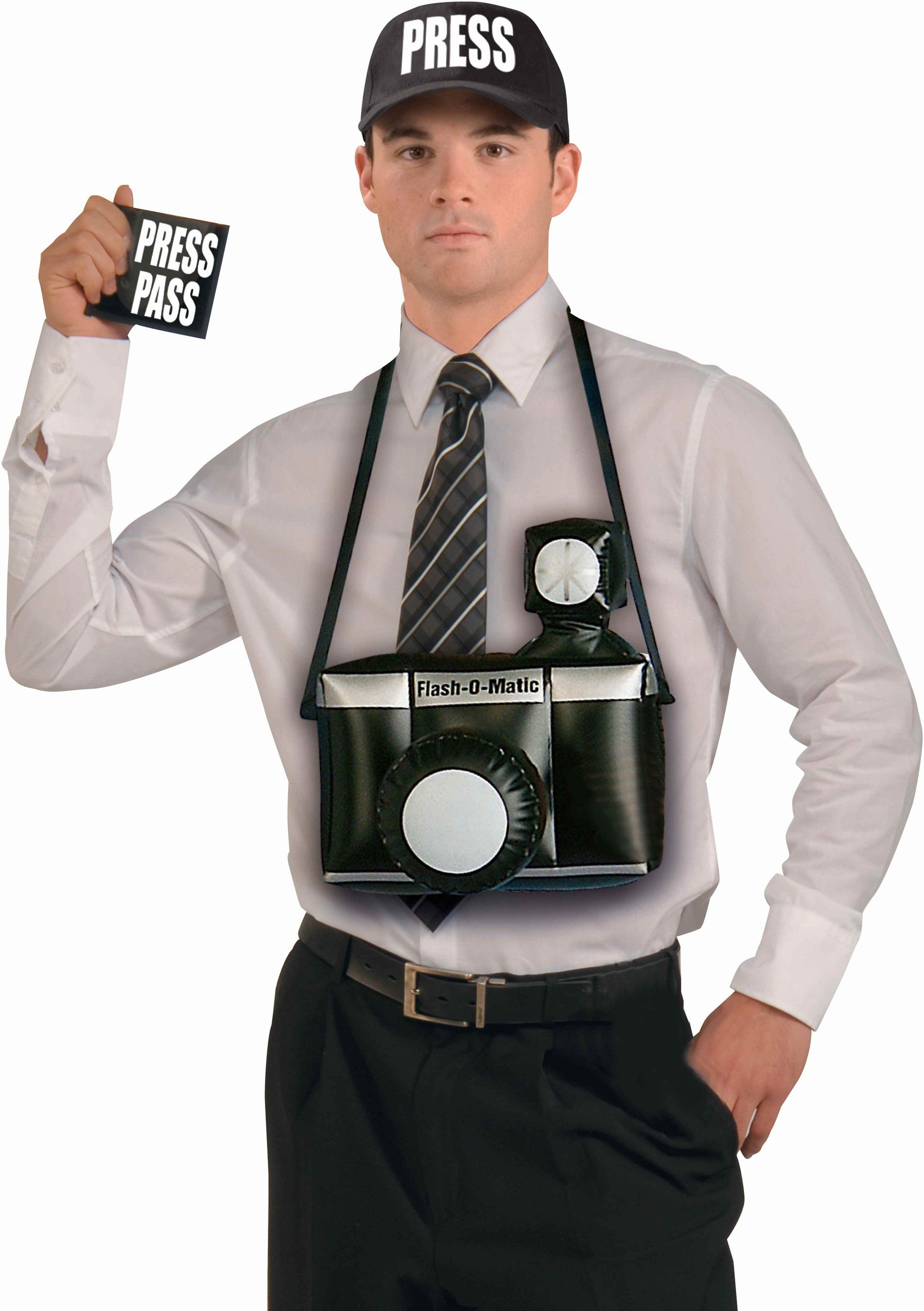 Jumbo Inflatable Camera Paparazzi Photographer Large Costume Accessory Prop