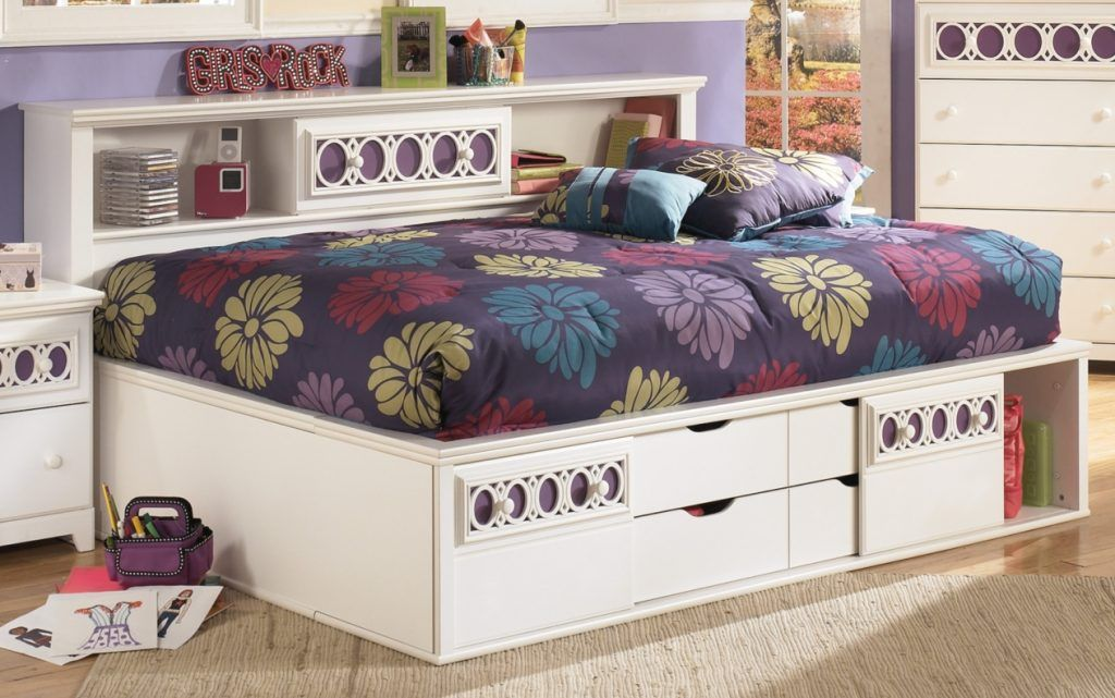 ASHLEY ZAYLEY Full Size Daybed With Storage Daybed with