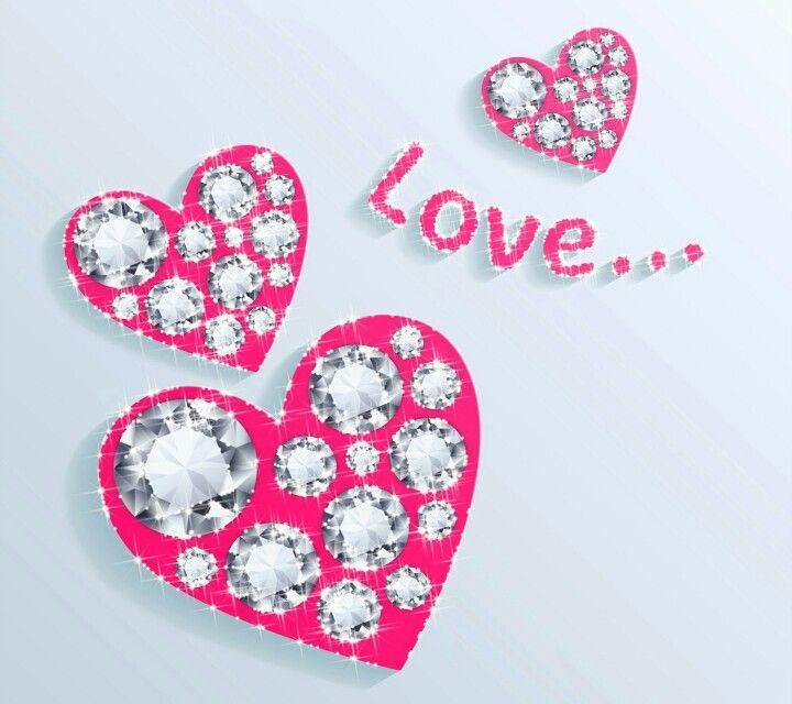 Pink diamond love | Phone Wallpapers | Pinterest