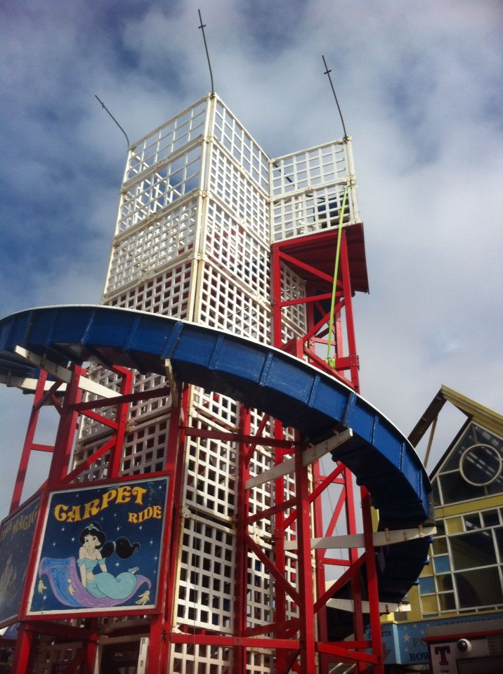Helta skelter Blackpool pier