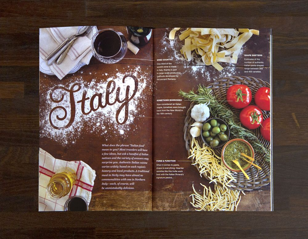 Italy, lettered using flour. / Jenna Carando