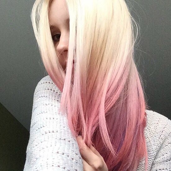 Pinterest Instagram Snapchat Happyandveg Pink Blonde Hair Pink Ombre Hair Ombre Hair Color