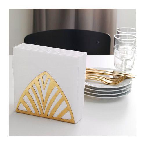 IKEA - TILLSTLLNING Napkin holder brass color | Napkin ...