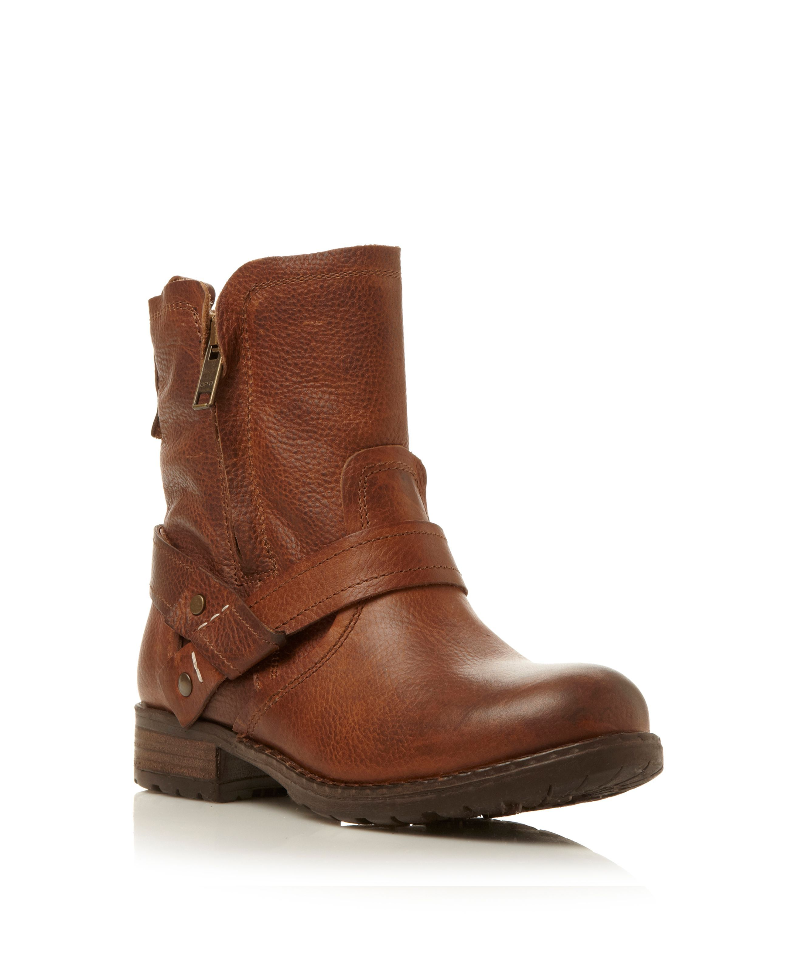 022e1cbbdd5d Steve madden Luckyone Heavy Biker Boots in Brown (Tan)