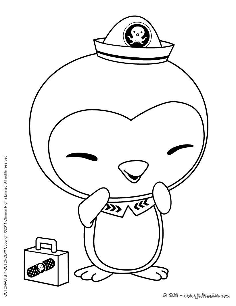 Octonauts Coloring Pages For Free Coloriage Medic Peso Penguin