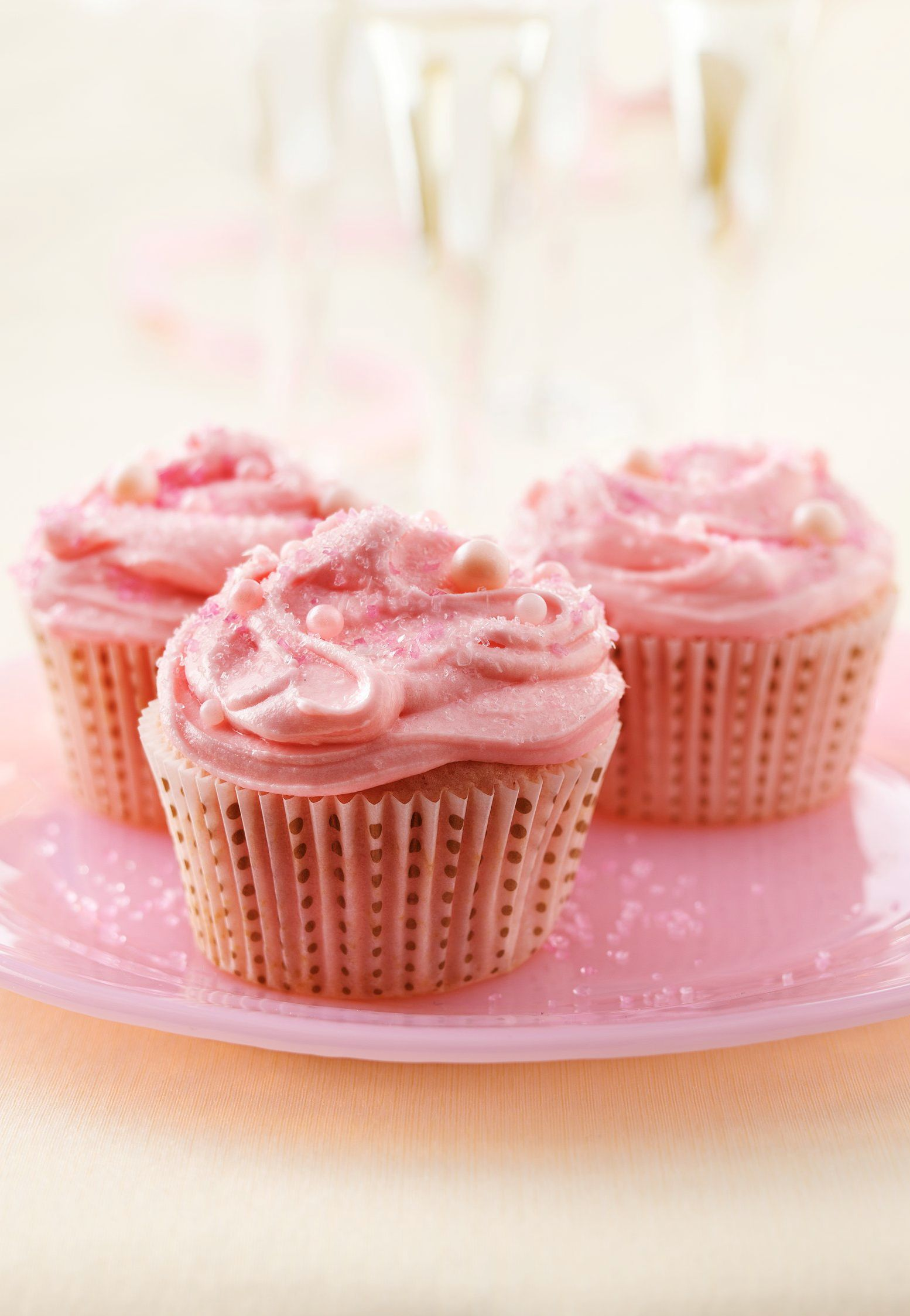 Pink Champagne Cupcakes Recipe Champagne Cupcakes Champagne Cupcake Recipes Cupcake Recipes