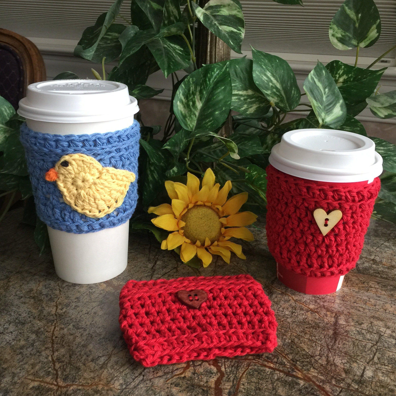 Crochet Cup Cozy Coffee Sleeve Togo Sleeve Coffee Cozy Drink