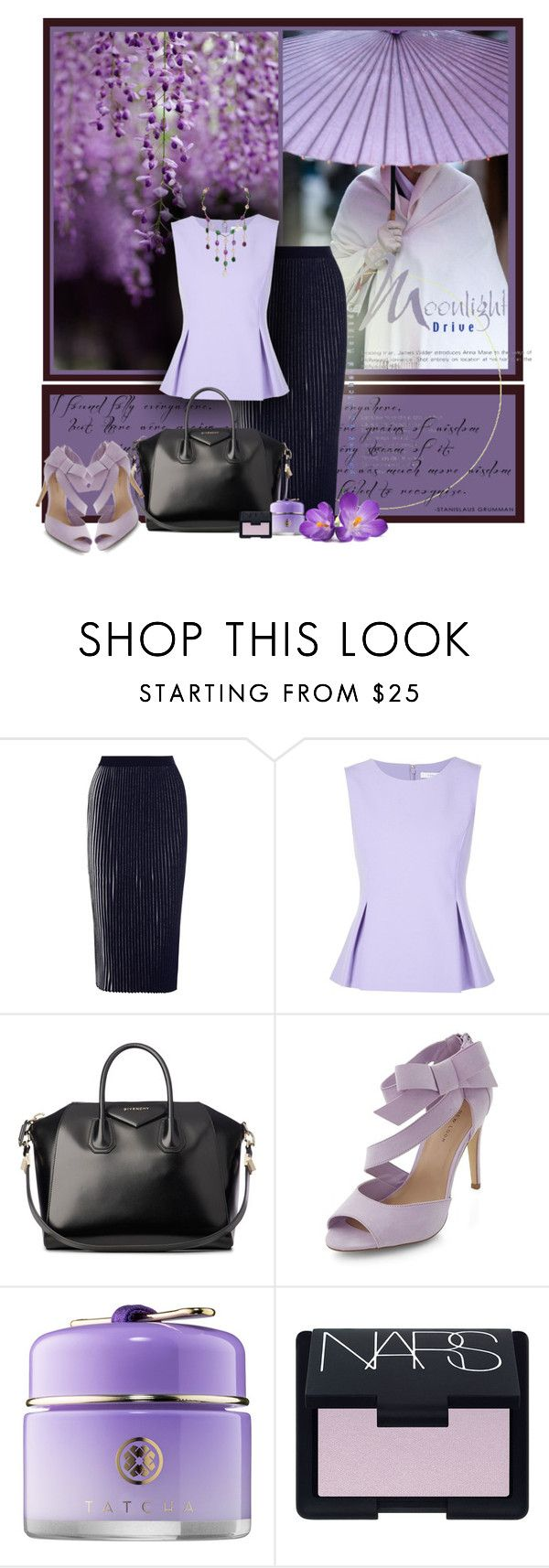"""Moonlight drive"" by anna-survillo ❤ liked on Polyvore featuring 1205, Diane Von Furstenberg, Givenchy, Tatcha, NARS Cosmetics and Chanel"