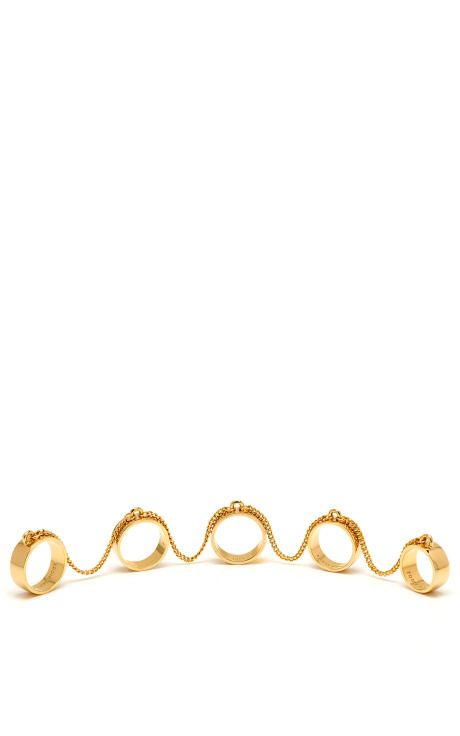Shop 5-Finger Ring by Eddie Borgo Now Available on Moda Operandi