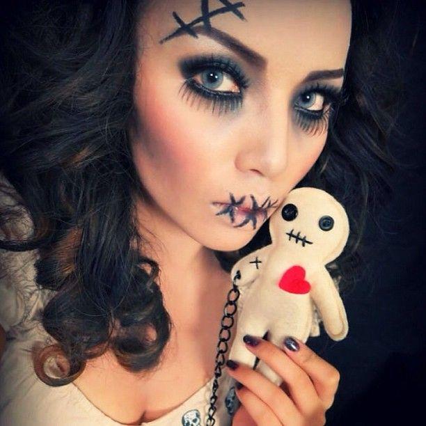 vodoo doll makeup puppe pinterest halloween halloween ideen und halloween kost m. Black Bedroom Furniture Sets. Home Design Ideas
