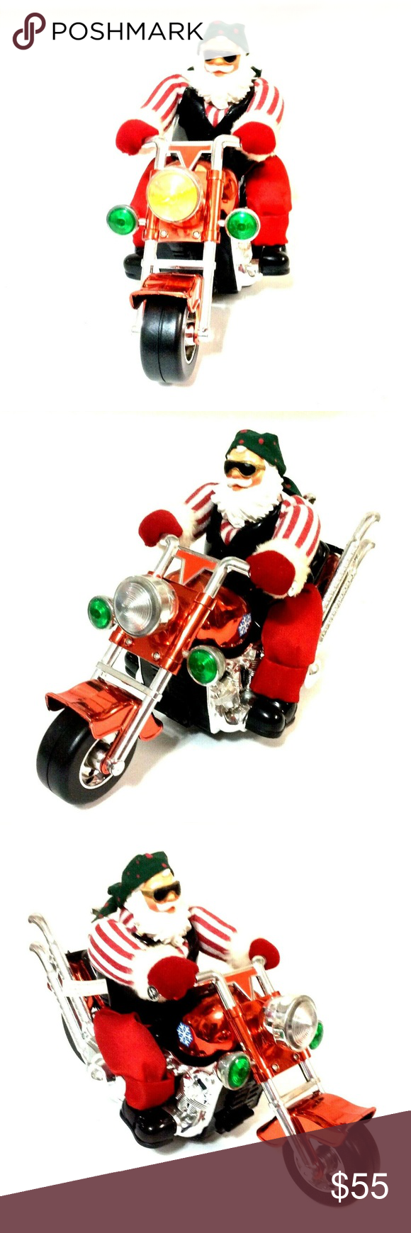 Born To Be Wild Santa Riding Motorcycle Vintage Pan Asian Creations Ltd Most Likely Before 2000 Vintage Christm Riding Motorcycle Riding Vintage Christmas