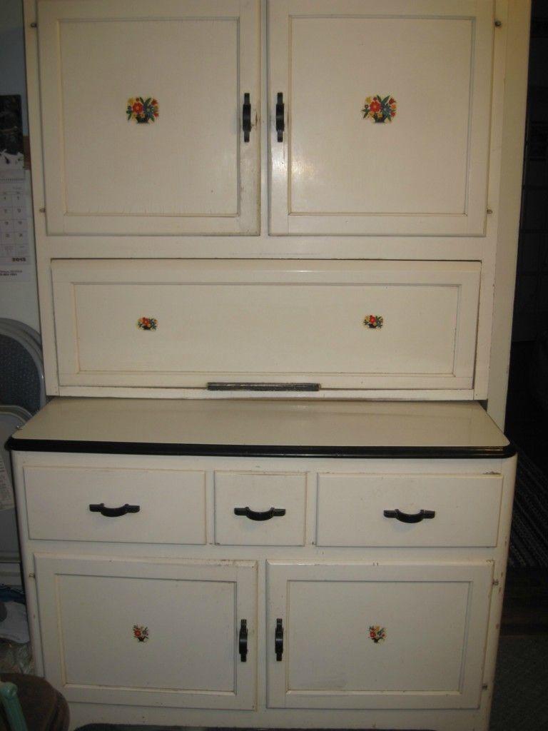 Antique Hoosier Cabinet   eBay -- #AwesomeHoosierCabinet ...