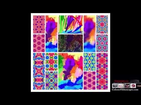 Rainbow colored Magic Markers Calendar video by khoncepts.com