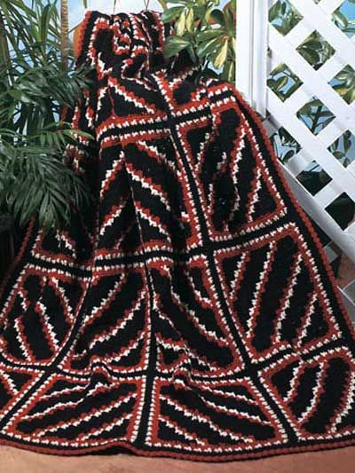 Navajo Diagonal Squares Afghan By Katherine Eng - Free Crochet ...
