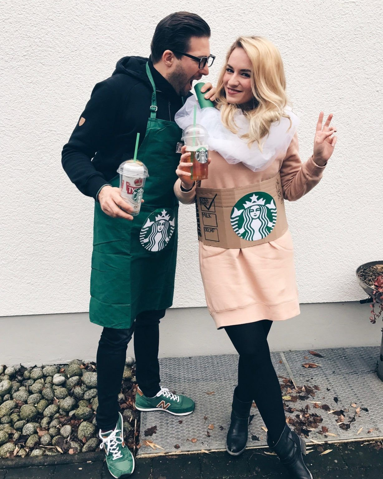 Lifestyle: Karneval 2017 - Starbucks Couple Costume #lattemacchiato