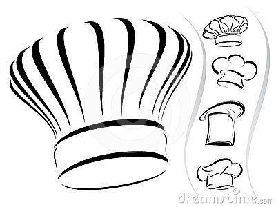 chef hat template printable - chef hat silhouettes vector icon set silhouette